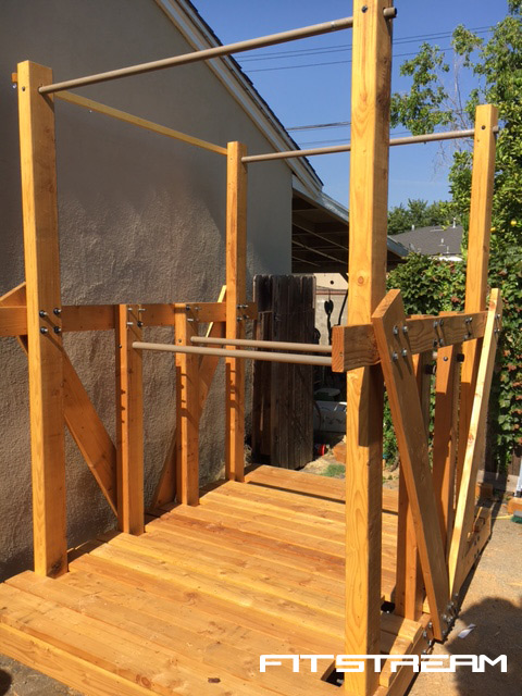How to Make an Outdoor Pull-up Bar and Parallel Bars - DIY ...