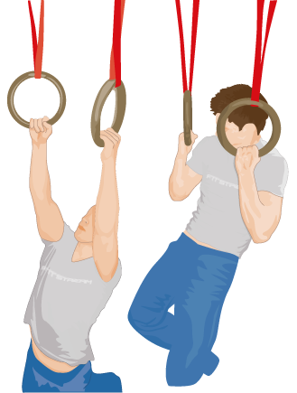 Pull-ups on Gym Rings, Strength Training - Ring Exercises ...
