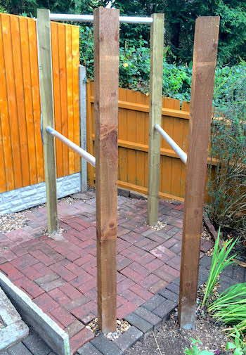 How to Make an Outdoor Pull-up Bar and Parallel Bars - DIY Fitness Homemade Gymnastics Bar Plans on homemade track bar, homemade gymnastic rings, homemade outdoor bar, homemade parkour bar, homemade piano bar, homemade weight lifting bar, homemade bar dimensions, homemade trap bar, homemade sports bar, homemade pull bar,