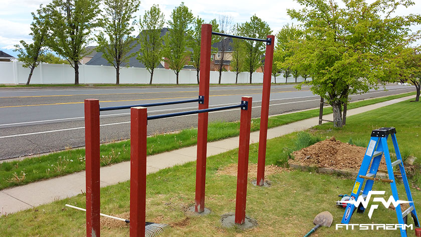 How to make an outdoor pull up bar and parallel bars diy