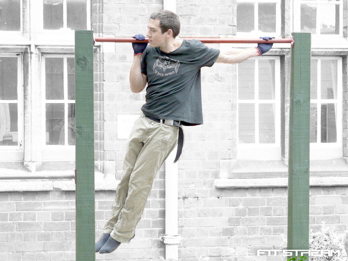 Backyard Gymnastics Bars : How to Make an Outdoor Pullup Bar and Parallel Bars  DIY Fitness