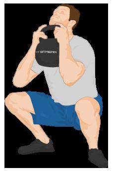 Kettlebell Goblet Squat: Fitstream: Kettlebell exercises