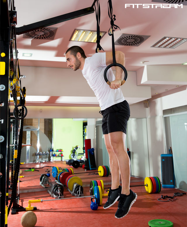 Crossfit Ring Dips With Bands