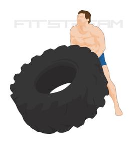 Tire Flip Exercise Tutorial Weight Training Exercises Fitstream